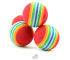 New 2pc Colorful Ball Pet Dog Tough Treat Training Chew Puppy Activity Toy Fun