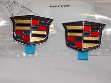 2003-2011 Cadillac CTS/STS Rear Chrome Crest Emblem Genuine OEM NEW 25767582 x 2
