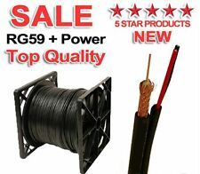 500FT SIAMESE CABLE RG59 VIDEO 20AWG 18/2 POWER SECURITY CAMERA WIRE CCTV BULK @