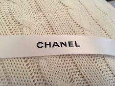CHANEL Classic White Satin Logo Ribbon