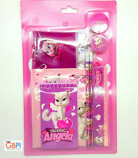 Talking Angela Stationery Set with pencils, sharpener, ruler and eraser - TF-STA