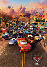 DISNEY CARS MOVIE POSTER PRINT A4 260GSM