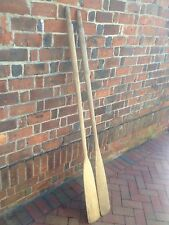 Nice 65 inch ~ (5.5') Weathered Ash Wood Canoe Paddles Oars Vintage Nautical