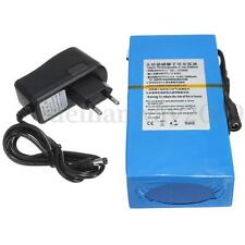 Super Durable Rechargeable Protable Li-ion Battery DC 12V 20000mAh +EU Plug Blue