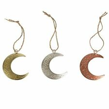 Sass and Belle Metallic Finish Arabian Moon Hanging Decoration - set of three