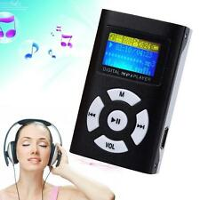 MP3 Music Player With Digital LCD Screen Mini Clip Support 32GB Micro SD TF GP
