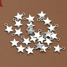 Wholesale 20pcs Tibet Silver Five-Pointed Star Charm Pendant Beaded Jewelry 12