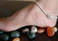 German Silver Snake Chain Minimalist ANKLET Ankle Bare Foot Jewelry|Boho Gypsy