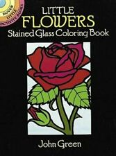 Coloring Books For Adults Stained Glass Flowers Designs Creative Relief Stress