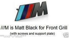 "305- BMW ""///M"" LOGO METAL BADGE MONOGRAM EMBLEM FRONT BLACK MPower M3 M5 GRILL"