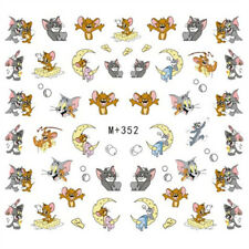 Waterslide Nail Art Sticker for Nail Polish Decals Cute Tom and Jerry M352 New