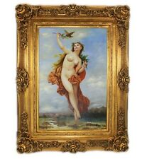 OIL PAINTING ON CANVAS IN BEAUTIFUL GOLD FRAME - NAKED WOMAN