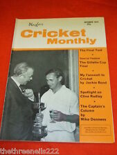 PLAYFAIR CRICKET MONTHLY - GILLETTE CUP FINAL - OCT 1972