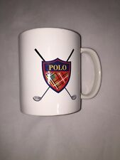 Ralph Lauren Polo Golf Coffee Cup Mug Tartan Crest and Clubs 1997