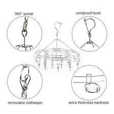 304 Stainless Steel Underwear Sock Swimwear Clothes Hanger Airer Dryer 20 Clips