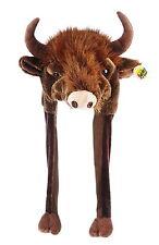 Tier Mütze Plüsch  Stier Bison Büffel Kuh Bulle