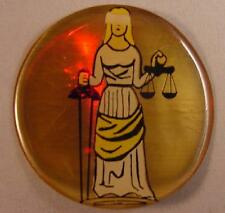 "SCALES of JUSTICE LAWYER 2"" EPOXY CAR EMBLEM STICKER NEW"