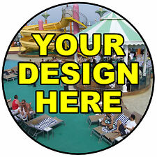 YOUR OWN DESIGN BADGE- BIG PERSONALISED BADGE, ANY TEXT, PHOTO. THEMES - NEW
