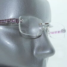 Frameless Purple Electro Tech Low Profile Big City Reading Glasses +1.75