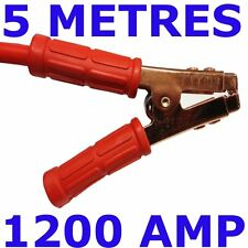 Professional Heavy Duty 1200AMP Jump Leads 5M car van Jump start Booster Cables
