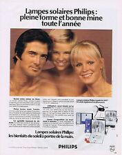 PUBLICITE ADVERTISING 045 1974 PHILIPS les lampes solaires