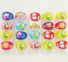 15 X Shopkins Rings Plastic Toy Party Bag Filler Gift Birthday Themed Stocking