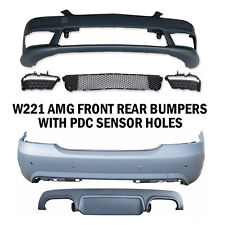MB 2007-13 W221 AMG STYLE S-CLASS FRONT REAR BUMPER LED DRL BODY KIT WITH PDC
