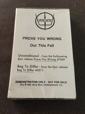 Prong 1991 Prove You Wrong Promo W/UNCONDITIONAL & BEG TO DIFFER NEW SEALED Epic