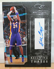 2010-11 PANINI ELITE BLACK BOX KOBE BRYANT REIGNING THREES SP AUTOGRAPH (96/99)
