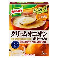 Knorr☆AJINOMOTO Japan-Cup Soup Cream onion Potage 3  sachets