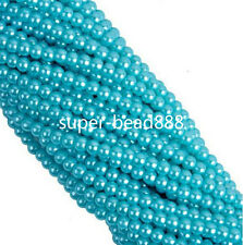 50/100/200pcs Round Glass Faux Pearl Spacer Beads for Jewelry Making 4 6 8mm