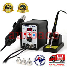 Desoldering Soldering Rework STATION 8786D Hot Air Gun 2 in 1 OZ SELLER