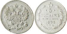 RUSSIE  ,  ALEXANDRE  III  ,  5  KOPEKS  ARGENT  1893  SAINT  PETERSBURG