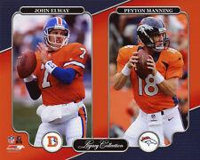 Denver Broncos JOHN ELWAY & PEYTON MANNING Glossy 8x10 Photo Poster