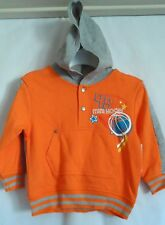 BOYS 3T AWESOME ORANGE BASKETBALL HOODIE SWEATSHIRT NWT ~ WONDER KIDS