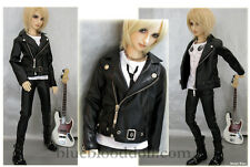 1/3 BJD 60-63cm boy doll outfits black leather jacket SD13 dollfie luts ship US