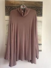 MarlaWynne Modern Polo Neck Butterfly Top TAUPE XL