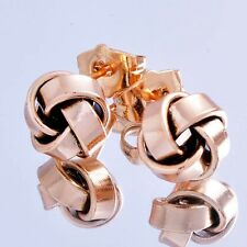 Womens jewelry 14K Gold Plated whirlwind flower shape small stud earings