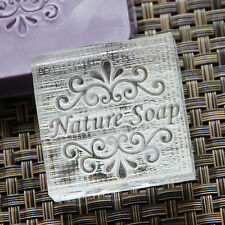 Customize Natural Handmade Patterns Soap Stamp Mold Natural Acrylic Glass DIY