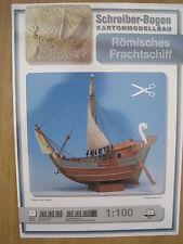Römisches Frachtschiff Schiff Boot Kartonbausatz NEU Schreiber- Bastelbogen