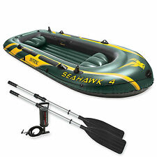 Intex Seahawk 4 Boat Set + pump + oars four man dinghy tender #68351