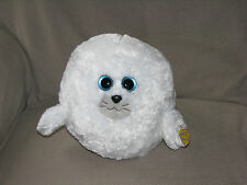TY Beanie Baby Ballz - SEYMOUR the White Seal (Medium Size - 8 inch) *NM* 2012