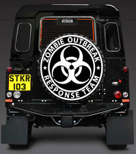 zombie outbreak response team LAMINATED SPARE WHEEL COVER STICKER4x4