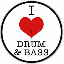 I LOVE DRUM & BASS - DJ / Turntable slipmats - high quality - brand new - (Pair)