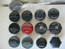 lots of 13 various domestic foreign Honda Nissan MotorCraft Stant car gas caps