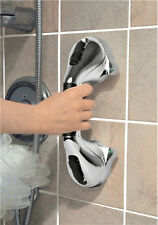 Chrome Super Grip Suction Handle Ideaworks TV Bathroom Safety Bath Grab Bar Cups