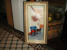 Lovely Oil Painting On Canvas Of Horse & Buggy-Signed R Pichardo-1982-Framed