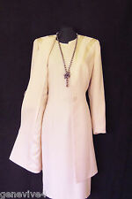 CONDICI Size 14 Pale Pink Beaded Ladies Designer Wedding Dress and Jacket Outfit
