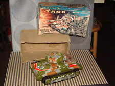 VINTAGE NOMURA BATTERY OPERATED M X TANK. OPERATIONAL/ORIGINAL & COMPLETE W/BOX!