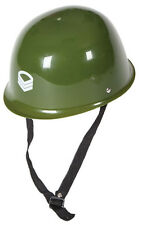 Plastic Army Helmet WW1 WW2 Soldier Adult Hat Fancy Dress Costume Accessory 9169